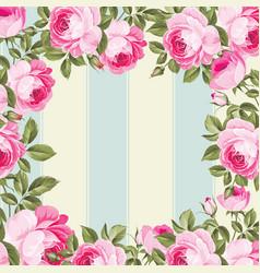 Floral border background vector