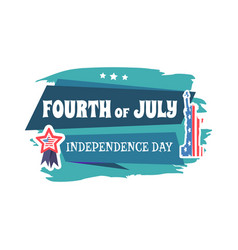 fourth of july independence vector image
