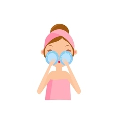 Girl Using Eye Patches vector