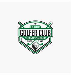golf club badge logo-9 vector image