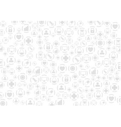 grey medical icons abstract pattern design vector image