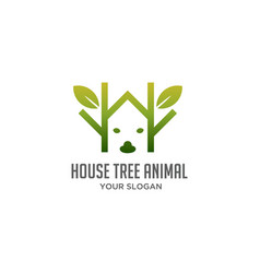 House tree animal logo vector
