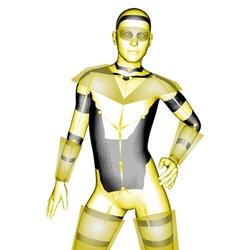 humanoid robot vector image