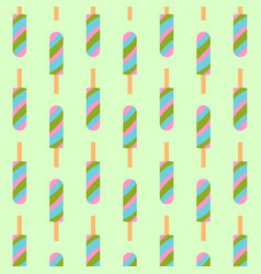 Ice cream seamless pattern background fruit vector