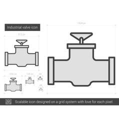Industrial valve line icon vector