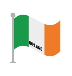Ireland patriotic flag isolated icon vector