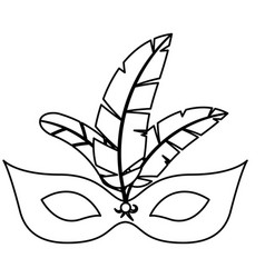 isolated mask with feather of celebration design vector image