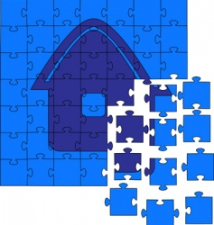 jig saw puzzles vector image