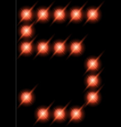led digits 5 vector image