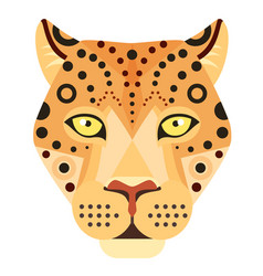leopard head logo cheetah decorative vector image