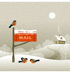 Mailbox on the forest edge vector