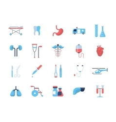 Medicine - flat design icons pictograms vector