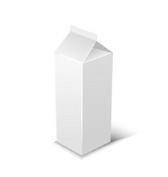 milk or juice pack realistic vector image