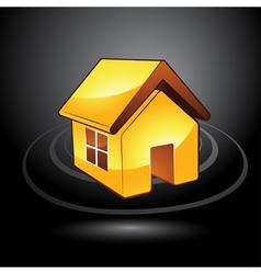 modern house symbol vector image
