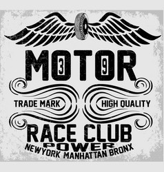 Newyork manhattan bronx motorcycle typography vector