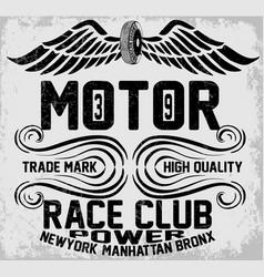 newyork manhattan bronx motorcycle typography vector image