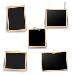 Old photo frame with white background vector