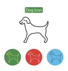 pet dog line icon vector image