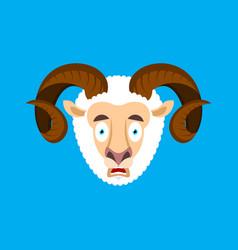Ram omg scared face avatar sheep oh my god emoji vector