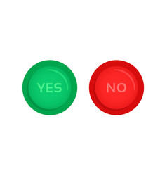 red and green yes and no buttons vector image