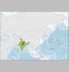 republic india location on asia map vector image