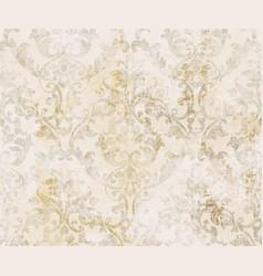 Rococo texture pattern floral ornament vector