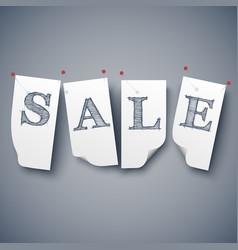 sale paper labels set vector image