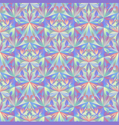 Seamless abstract floral triangle pattern vector