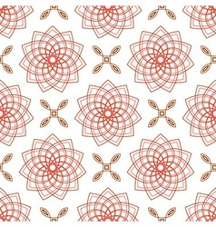 Seamless of geometric weaving pink forms like flow vector