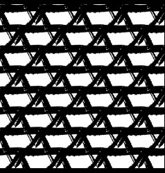Seamless pattern with brush triangle and vector