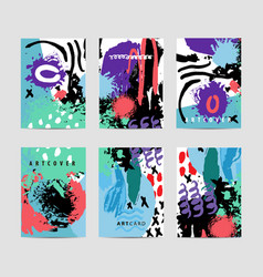 set artistic creative cards use vector image