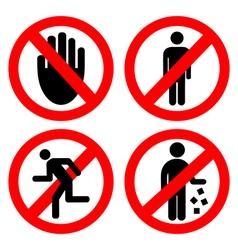 Set ban icons vector image