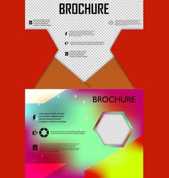 set of poster flyer brochure cover design layout vector image