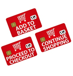 Shopping - Icons vector image