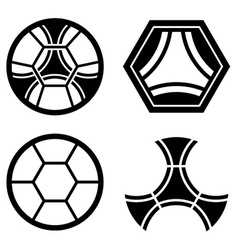 soccer club emblem ball pattern vector image