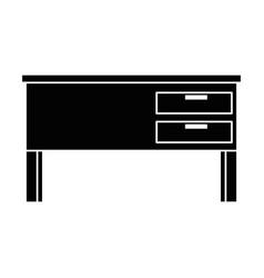 teacher desk isolated icon vector image