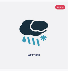 Two color weather icon from meteorology concept vector