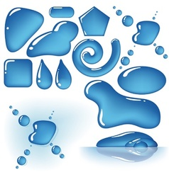 Water Drops Shapes vector