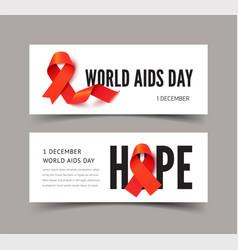 World aids awareness day banner templates vector