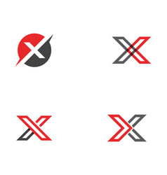 X letter logo template icon vector