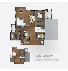 layout interior plan with furniture vector image