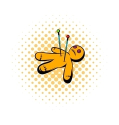 Voodoo doll icon comics style vector