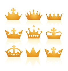 Collection of crowns vector image