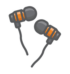 earphones filled outline icon music vector image vector image