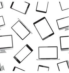 realistic smartphone tablet laptop and desktop vector image