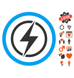 electrical hazard icon with lovely bonus vector image vector image