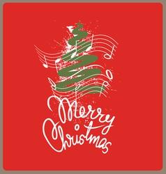 Merry christmas song vector