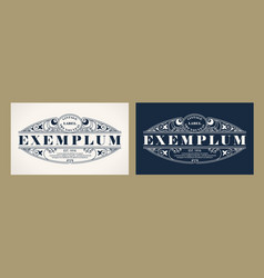 vintage label design with an example of your text vector image