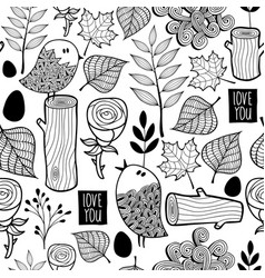 black and white forest for coloring vector image vector image