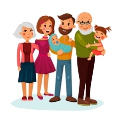 Happy family logo with father and mother vector image vector image